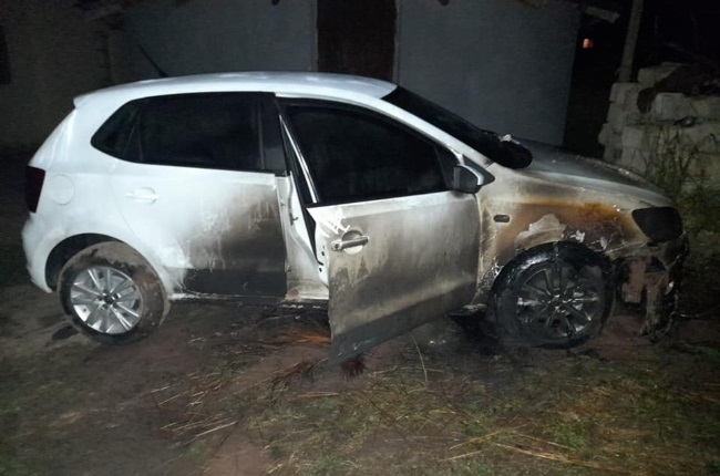 Pearl Mthombeni's car was mysteriously torched while she was sleeping.