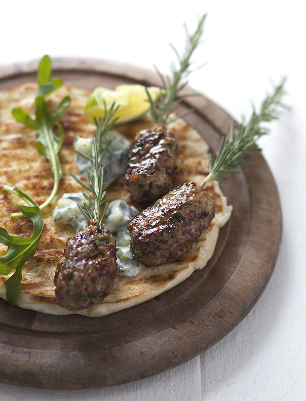 greek lamb kofta with flatbread
