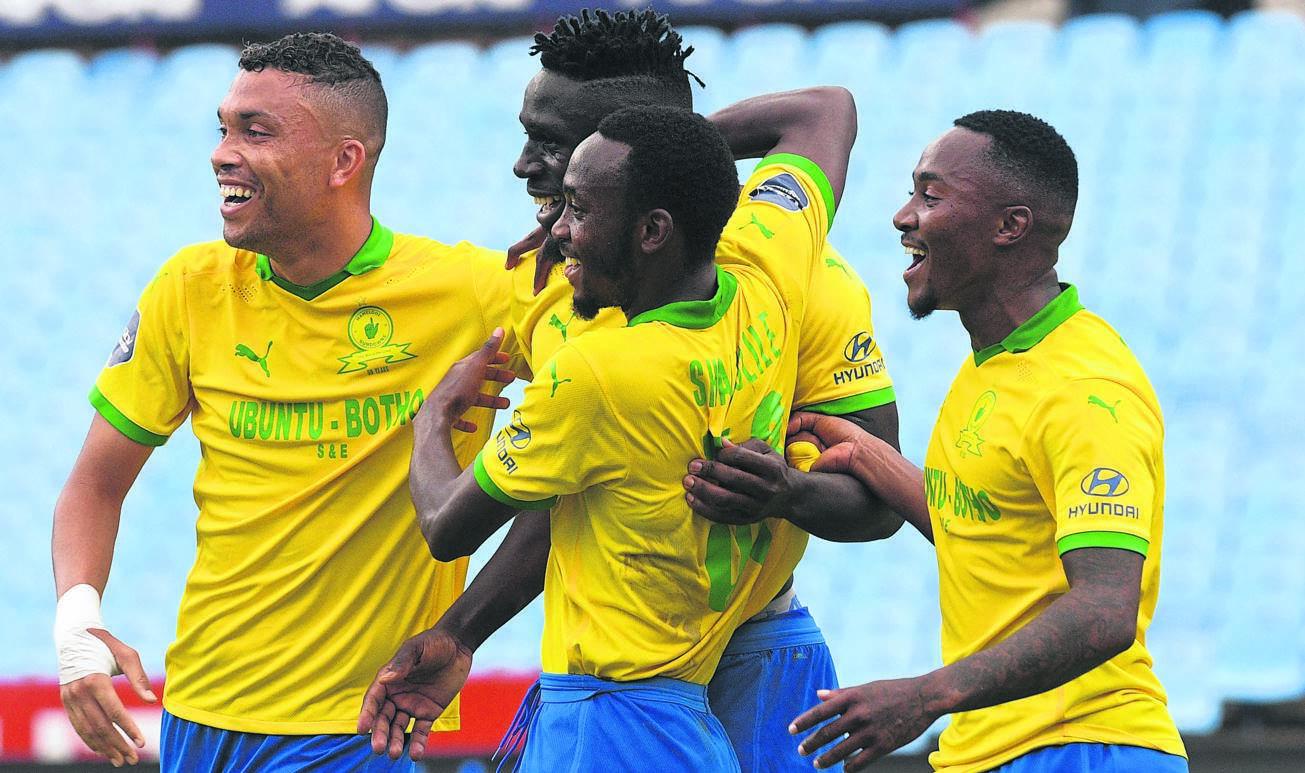 Sundowns smashed Pirates 3-0 at Orlando Stadium in Soweto on Sunday to cement their title bid.