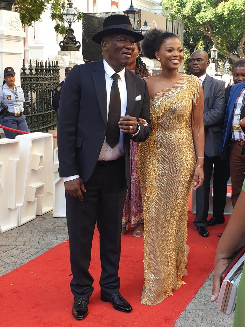 Bheki Cele, minister van polisie, en sy vrou Themb