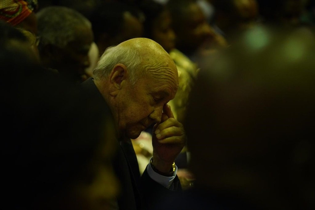 FW de Klerk when the EFF interrupted the SONA to ask that he be removed from the sitting.