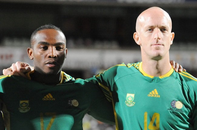 Matthew Booth and Benni McCarthy (Gallo Images)
