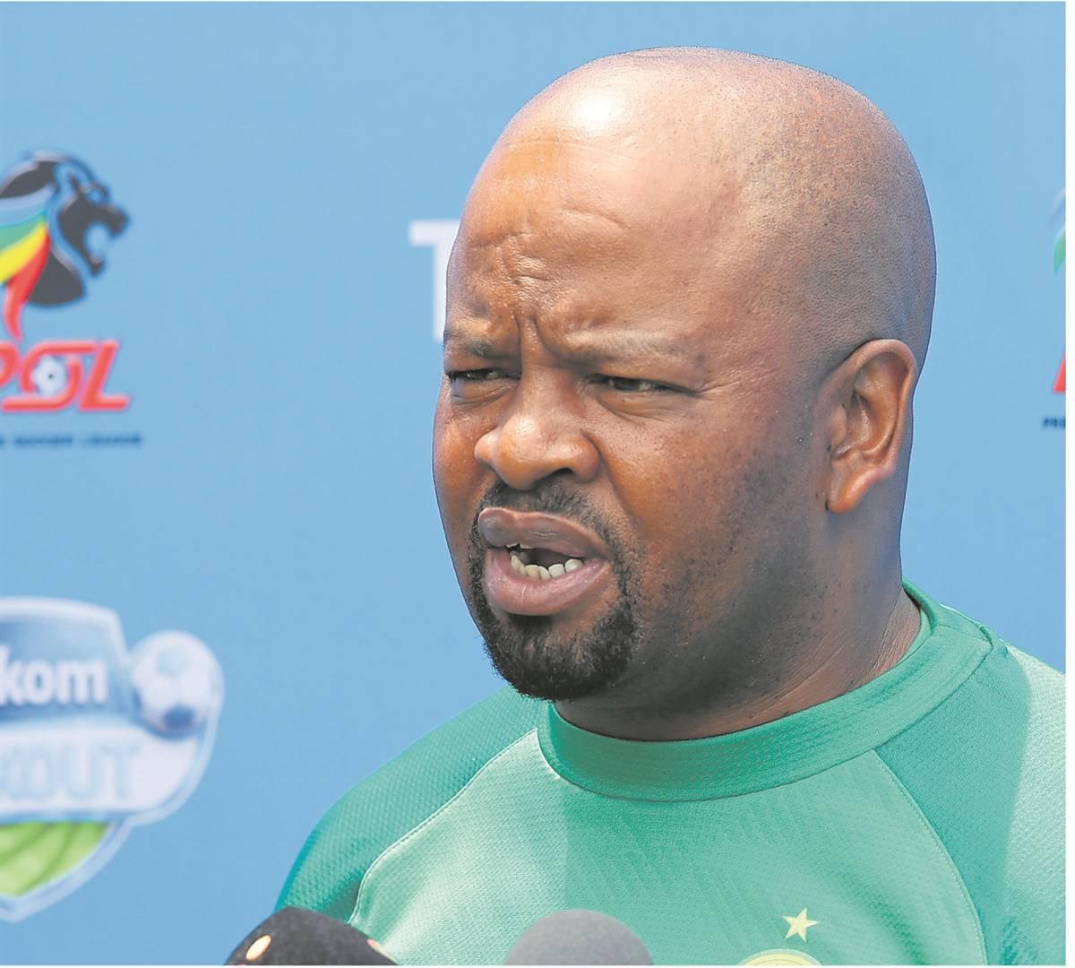Mamelodi Sundowns co-coach Manqoba Mngqithi.