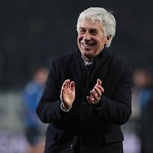 Atalanta BC coach Gian Piero Gasperini celebrates
