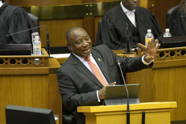 President Cyril Ramaphosa delivers his State of th
