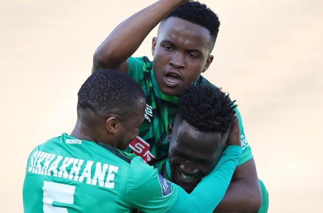 Sphelele Mthembu of AmaZulu celebrates goal with team-mates (Gallo Images)