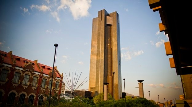 The South African Reserve Bank building in Pretoria.