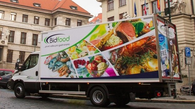 A Bidcorp delivery vehicle in the Czech Republic