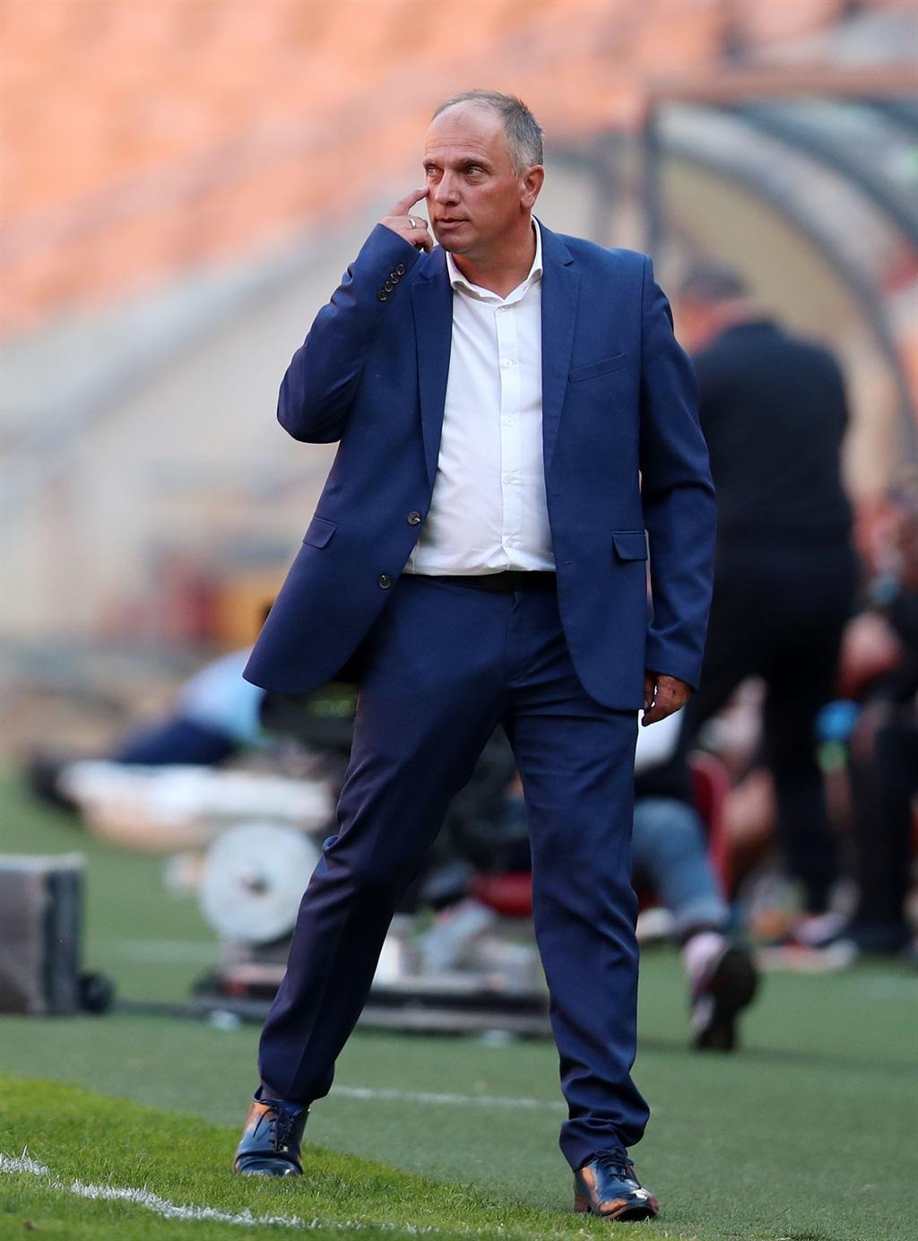 Heric Vladislav, head coach of Chippa United  duri