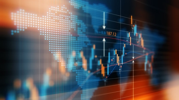 Financial data analysis graph showing global marke