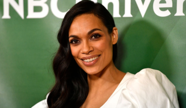 Rosario Dawson, attends the 2020 NBCUniversal Winter Press Tour 45. Photographed by Frazer Harrison