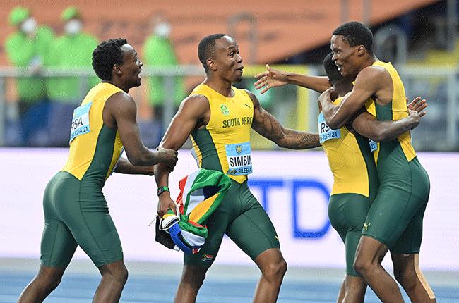 Akani Simbine, Clarence Munyaim Thando Dlodlo and Gift Leotlela for South Africa (Getty Images)