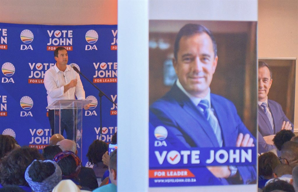 DA interim leader John Steenhuisen at the launch of his campaign to become the party's federal leader, last week in Cape Town. (Jan Gerber, News24)
