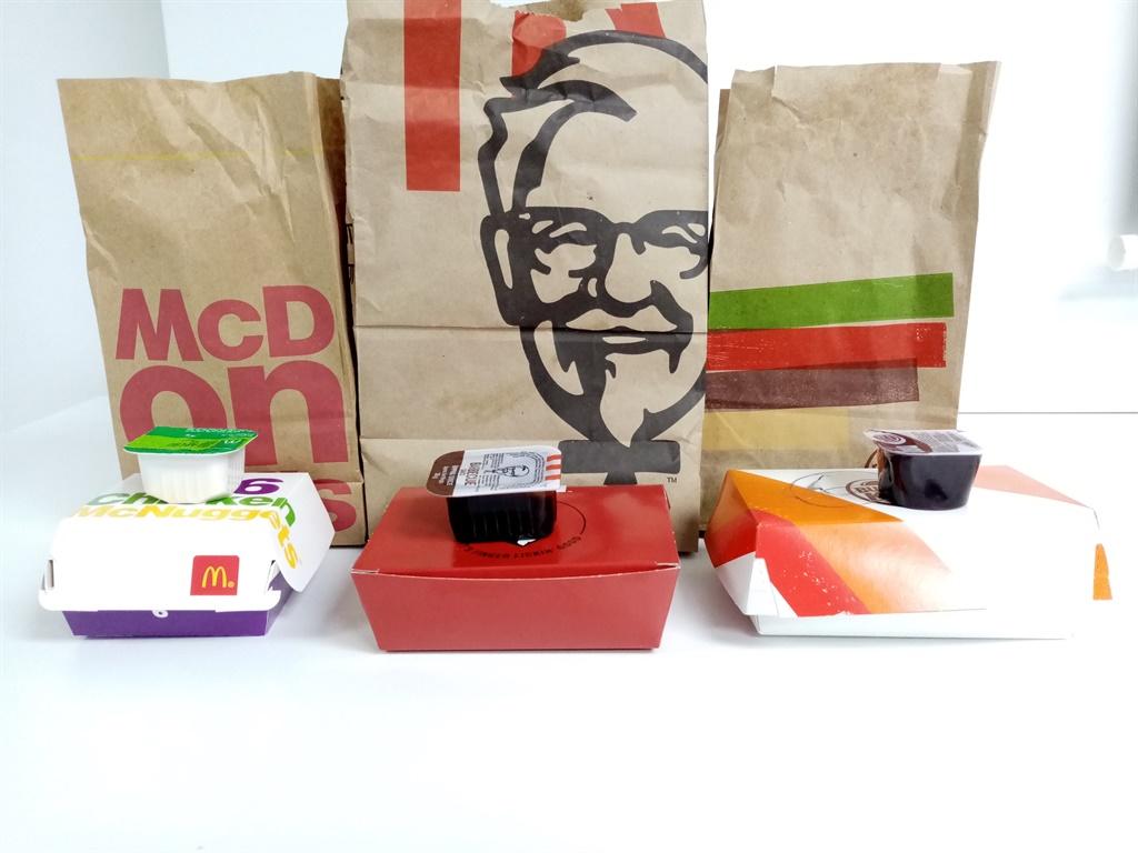 KFC, McDonalds, Burger King, Nuggets