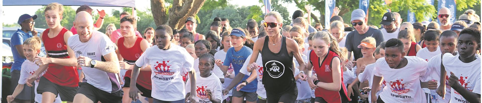 Epworth recently hosted the second event in the aQuellé Dustbuster series, which took the form of a community fun run. PHOTO: supplied