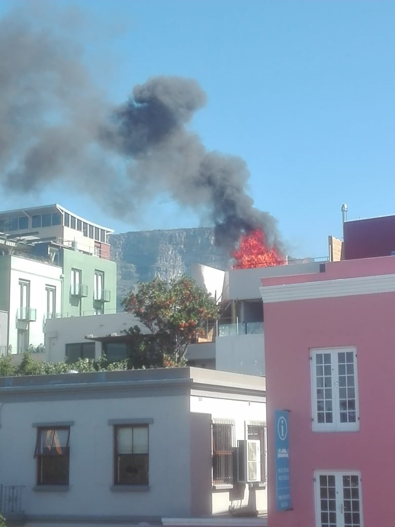 Jacuzzi, wooden deck catch fire on rooftop of upmarket Cape Town home