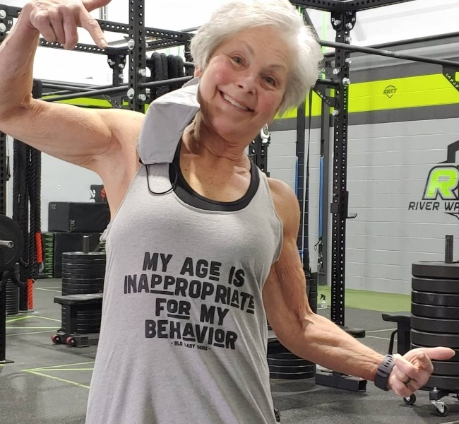 She says it it can be hard to build muscle when yo