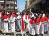 Father Ambros Muli leading Christians during the procession to mark the day Jesus Christ was crucified on Good Friday