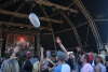 FREEDOM: The crowd goes wild for a floating condom during Bombay Showpig's performance. Copyright: V. Smeets