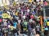 Very calm march due to huge police presence. Taken in Salt river Road, Salt River, CT