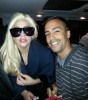 Me having a picture taken with Lady Gaga when she arrived at Cape Town International last night.