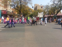 In pretoria streets today. They said its clown day