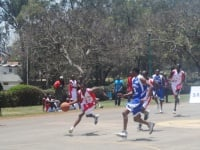 Basketball match between University of Nairobi and Technical University at UON sports ground. (Dennis Omido, News24)