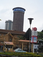 Samsung advertising on top of Kenyatta International Conference Centre (KICC). (Dennis Omido,News24)