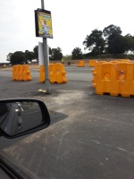 To Lazy yo Move a Street pole so we will just build the road around it. Middle of intersection