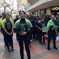 Marikana remembered in St George's Mall, Cape Town
