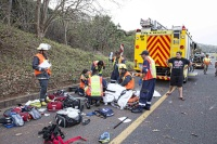 One person died while two others were critically injured in a roll-over accident on the N2 North between Winklespruit and Doonside. (Chris Botha, Netcare 911)