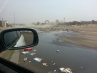 Zamdela sewerage running on the streest without any care...what has now become normal