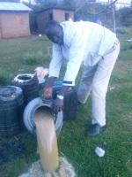 Chief 'Bongoman' of Tarakwa in Uasin Gishu spills illegal liquor