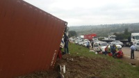 A man has been seriously injured after a truck accident on the N3 near Peacevale. (Robert McKenzie, KZN EMS)