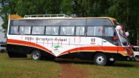 The new school bus of Ihithe secondary school. The bus was bought at a cost ofKES 6.4 million. (Joseph Njung'eh)