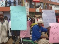 The Kuria community demonstrating over what they term as marginalization by county government (Alfred Onyango, News24 user)