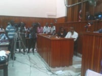 Journalists in court during the procession of court investigations in the matter of the missing Hemedi (Rodgers Buluma, News24 user)
