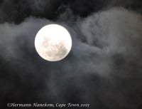The penultimate full moon 2015 over Cape Town 25/26 November