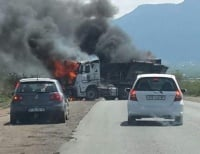 Trucks burnt by Steelpoort Area communities - unhappy with negotiating team leadership with mines