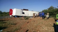 A head-on collision between a bus and a Truck today in Beitbridge, Zimbabwe left many feared dead.