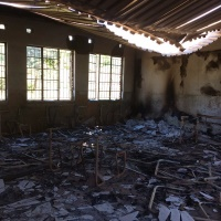 One of the twenty-three schools torched in Limpopo in the community of Vuwani.