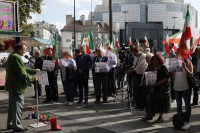 Most of the individuals who carried out Khomeini order are now in key positions throughout the Iranian regime's government. At the Friday exhibition, survivors and the families of victims testified to the public about their treatment under the regime.