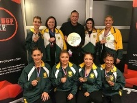 South African Hip Hop Champions in Federation Colors and not even made Proteas at home made the locals proud although the Protea Board practice discrimination...these ladies our moms did us all proud.